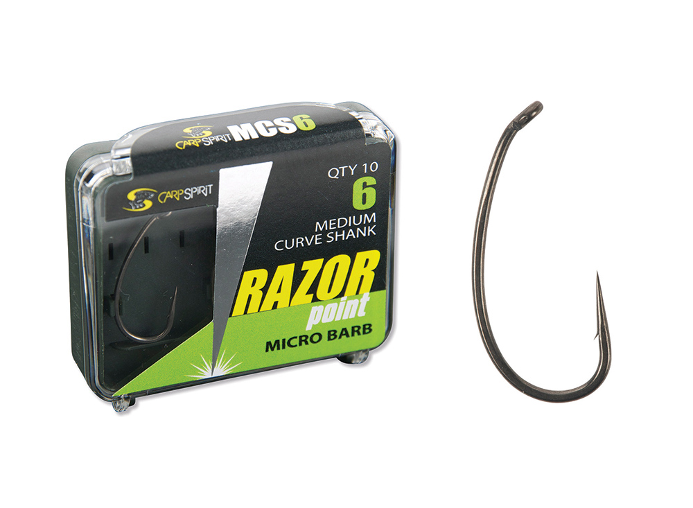 Razor Point Med Curve Shank Pack and Hook
